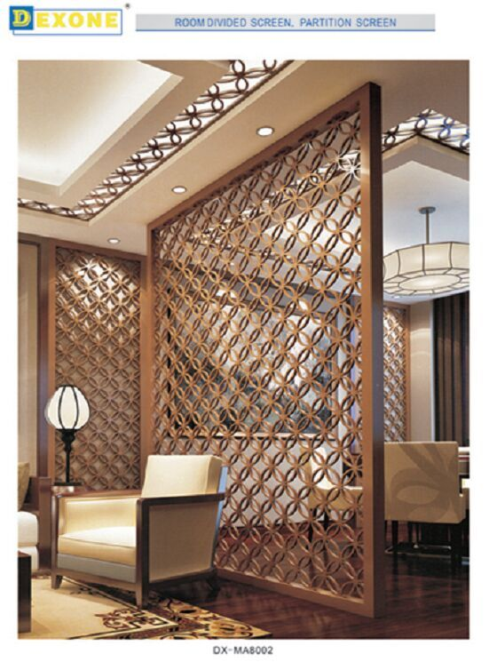 Metal Screen Wall : Aluminum decorative laser cut metal screens room divider