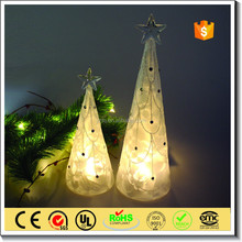 Christmas Indoor decoration artificial LED glass tree