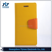 New Style Mixed Color Leather Flip for iPhone Case 6