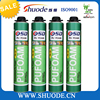 High density 750ml one component foam polyurethane adhesive