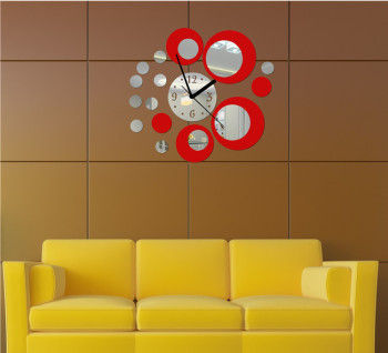 New products Acrylic 3d Sticker Wall Stickers Home Decor Mirror Wall Clock Large Still Life living room