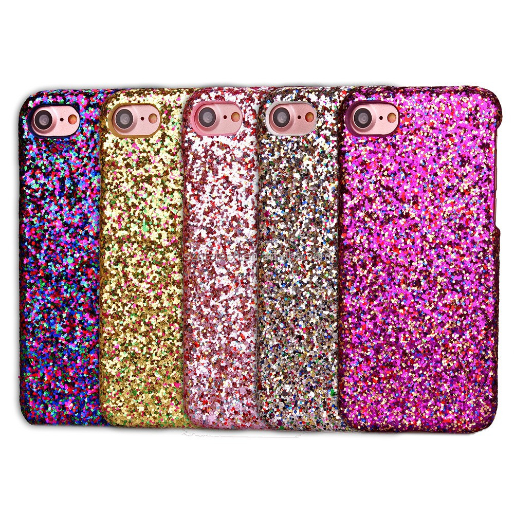 2017 Unique bling bling case sequins design pc case for iphone 8,shiny glitter back cover shell for iphone 8