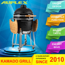 Auplex Egg Shaped Commercial Charcoal Ceramic BBQ Grill Egg Kamado
