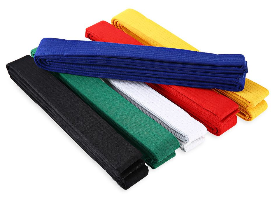 11Colors 1pc Taekwondo Belt Karate Martial Arts Taekwondo Belts 5m Cotton Polyester Professional TKD Belts