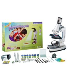 Educational Kits Prepared Slides Children Science Set Toy Microscope for Lab STX-1200