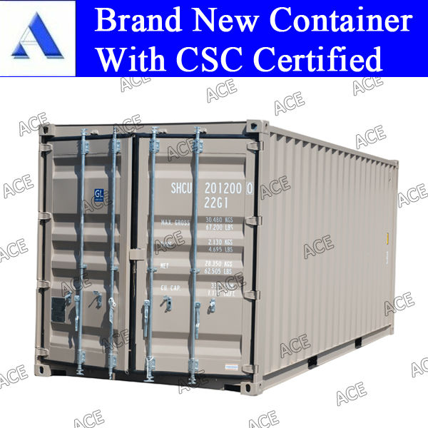 Brand new 20ft 40ft shipping container size in Chinese port
