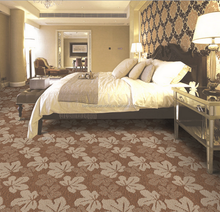 Wilton durable colorful floral pattern wall to wall carpet