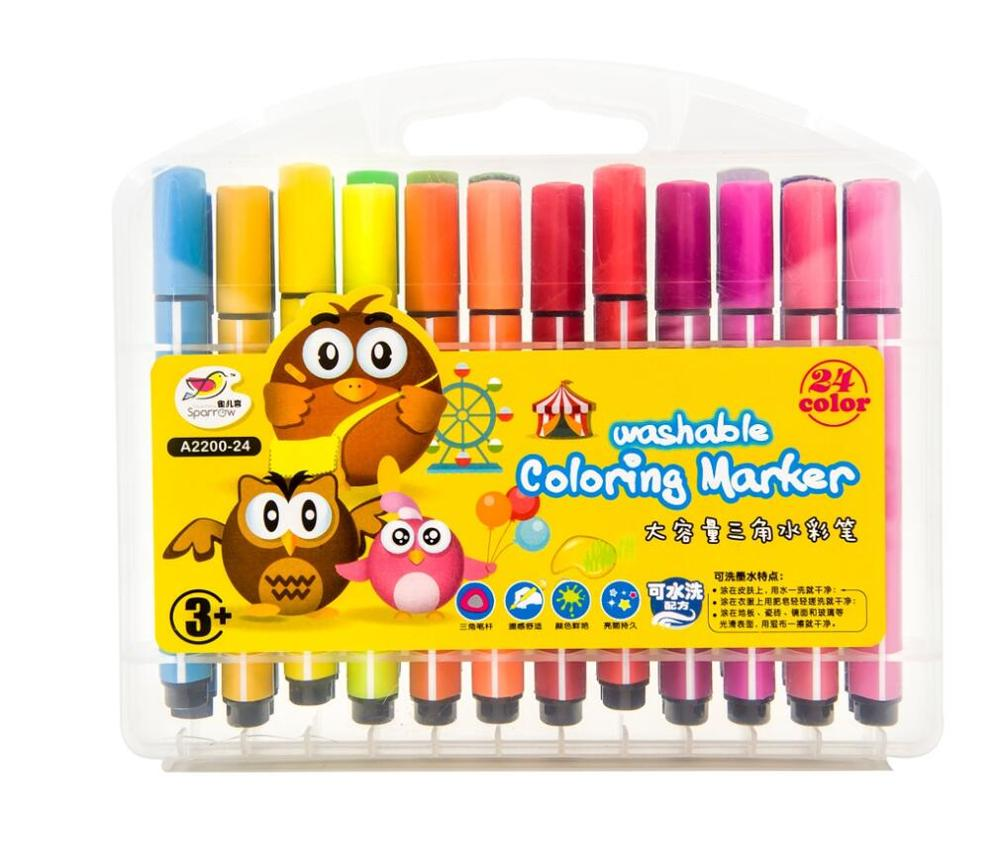 washable large colors pen for kids