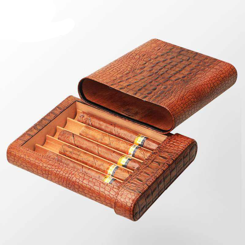 Mini High Grade Leather Cigar Packaging Case
