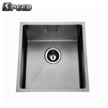China custom size square single bowl kitchen stainless steel sink