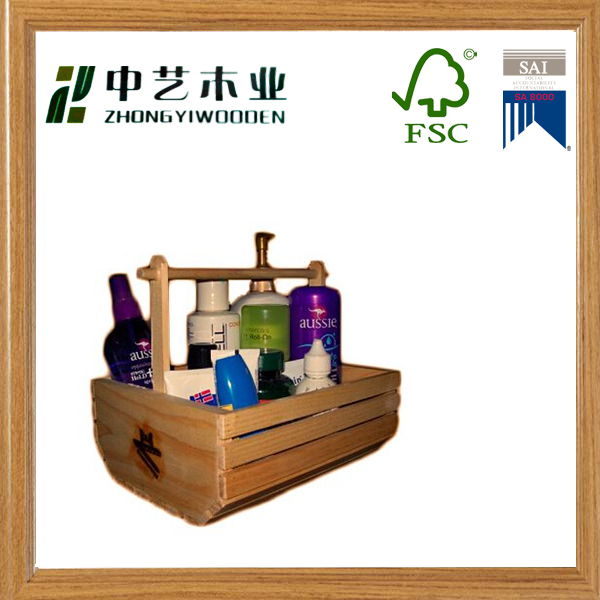 wooden wine crate Orange Decorative Wooden Crate Set with Handles wood handle flatware sets