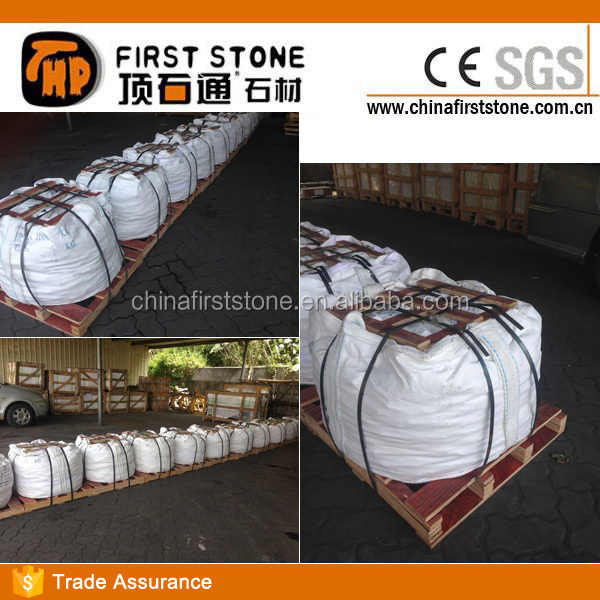 Landscaping Decor Wash Tumble Finish  Floor China Round Granite White Color Pebble Stone for Garden Paver