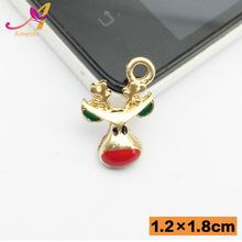 Green Red Christmas Jewelry Accessory Series Christmas Ornaments Deer Charm