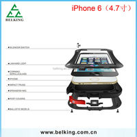 4.7inch!!! Powerful Shockproof/Waterproof/Scratchproof Case for iphone 6 Love Mei Metal Case