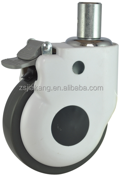 Medical Caster with Lock/TPR Ccaster, hospital bed caster