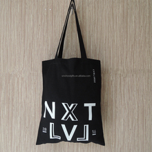China supplier 2016 top selling Customize promotional white printed black cotton sling Bag eco-friendly tote shopping bag