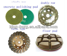 4 inch diamond polishing floor pad metal abrasive block for soft use concrete marble granite floor