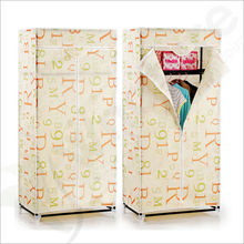 Double Canvas effect Wardrobe Clothes Rail Storage in Beige New Robust Model by Designer