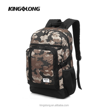 Brown camo Military Tactical 14 inch laptop waterproof hiking personalised backpack