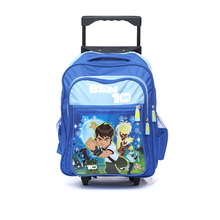 polyester trolley backpack school bags for kids