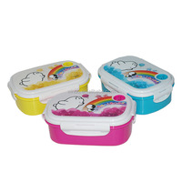 Polystyrene easy open plastic food container with lock