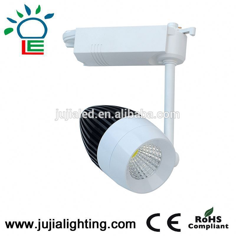 white/black/silver finish optional led track light projector,spot lighting with IES/DIALUX,direct factory sale