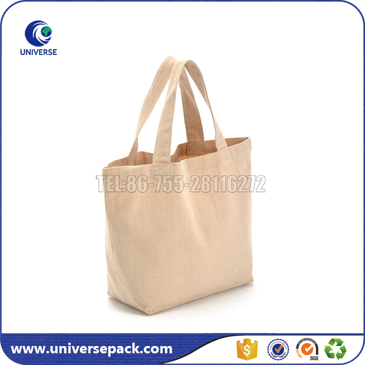 Classic Simple Shopping Bags Blank Canvas Tote Bag Customized