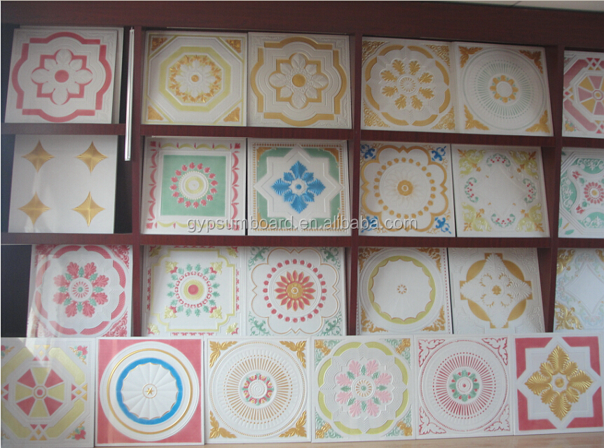 colorful fiberglass reinforced gypsum ceiling board / GRG