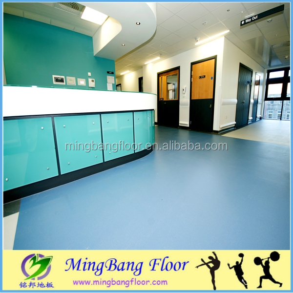 Commercial PVC waterproof floor Hospital sound absorption floor