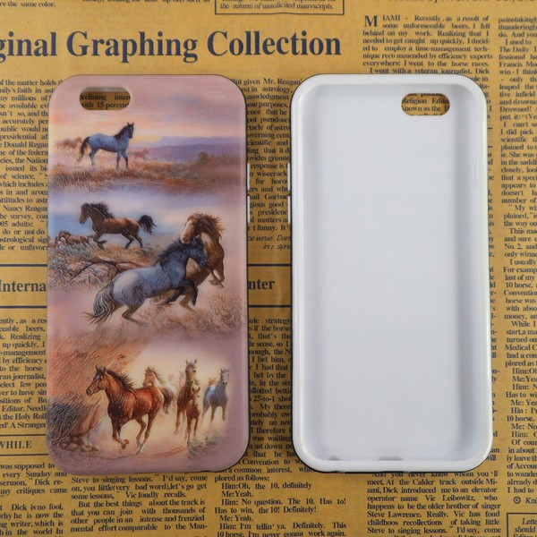 Horse embossment fancy phone case cover for 4g 5g bling mobile phone cover for 7100 attractive phone sleeves wholesale