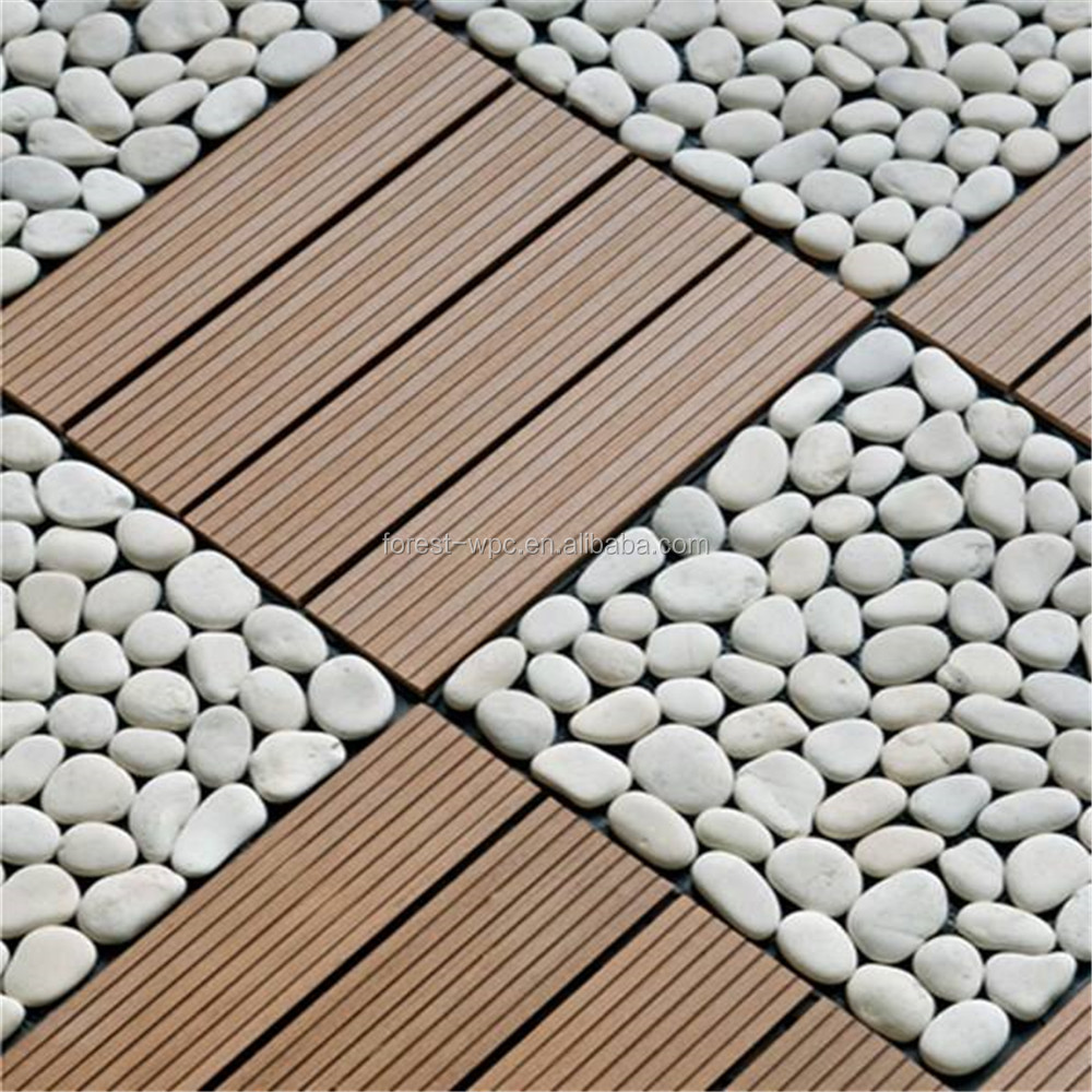300x300mm plastic goat flooring porcelain tile wood plastic composite interlocking plastic floor tiles