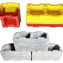 cement concrete paving interlocking hollow brick concrete block molds for sale