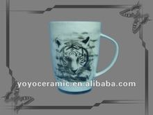 personalized ceramic mugs with tiger design