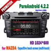 Android 2 Din car dvd player for mazda cx-7 with GPS bluetooth wifi 3G tv radio ipod iphone connection+SWC