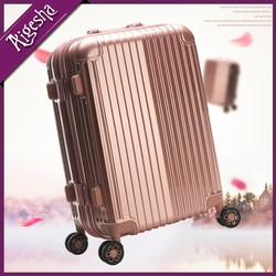 Hot selling luggage,pink gold luggage,travel luggage