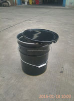 5 us gallon black color metal bucket/pail for chemical packing