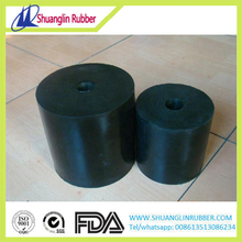 Rubber bearing building vibration isolation