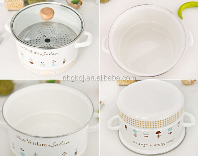 Enamel casserole /enamel pot/enamel cookware with full decals
