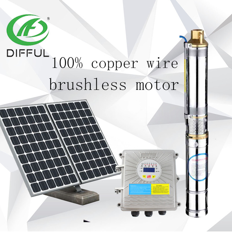 3inch Dc Brushless Submersible Solar Water Pump With Mppt Controller