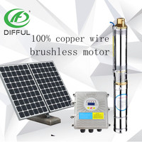 High-speed Brushless Dc Motor Submersible Centrifugal Deep Well Solar Water Pump Price India