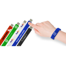Silicone Custom USB Bracelet Flash Stick Support Pen Drive 8GB