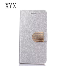 durable mobile phone bling bling case for lg v10 magnetic flip design surface shining glitter