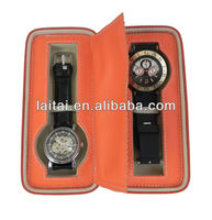 2013 fasion double case leather watch in china 2W-O