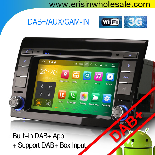 "2 Din 7"" ES3771F Android Car Gps Navigation Erisin Android 7.1 Car dvd player dvr wifi dab+ for BRAVO 2007--2014"