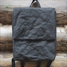 black Kraft Paper school bag backpack, washable paper bag for men