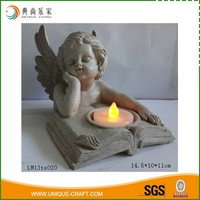 Wholesale Small Polyresin Angel LED Tea Light Holder