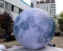 Cheap giant inflatable light moon ball planet for stage event