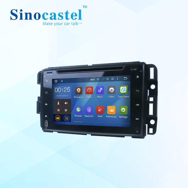 Sinocastel Android 5.1 for GMC YUKON CAR DVD WITH 1G DDR RAM 8GB 1.6GHZ FREQUENCY
