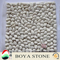 White paving road or home decoration pebble stone tile
