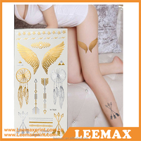 LM-1099 China Supplier High Quality Body 3D Golden Temporary Tattoo